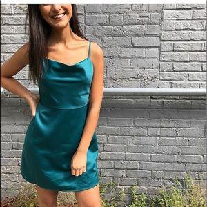 Dresses & Skirts - NWT navy blue silky dress